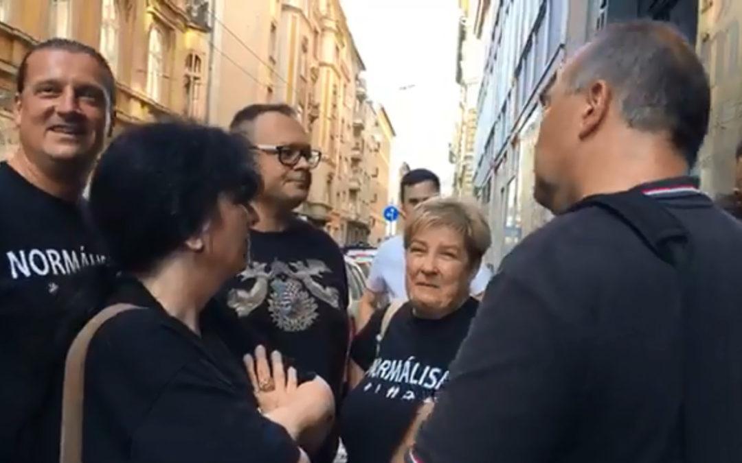 """A tegnapi """"napi Pride"""" programunk a Helsinki Bizottság """"meleg menekültekért"""" aggódó rendezvénye volt"""